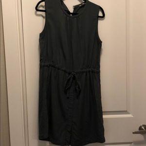 Gap grey drawstring dress